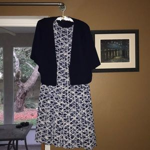Strapless dress with jacket
